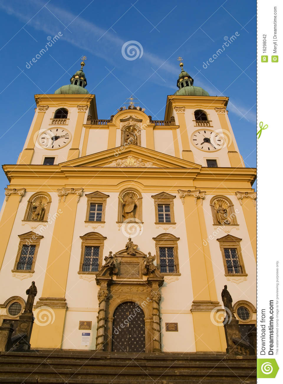Church baroque architecture czech republic stock for Baroque style church