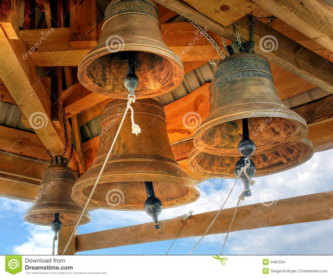Church Bells Stock Images Image 9481234