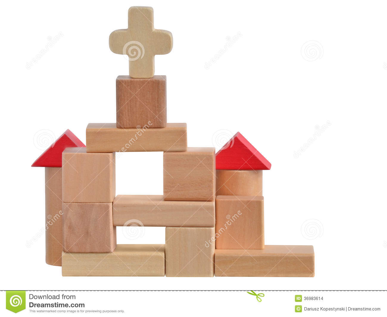 Toys For Church : Church blocks toy stock images image