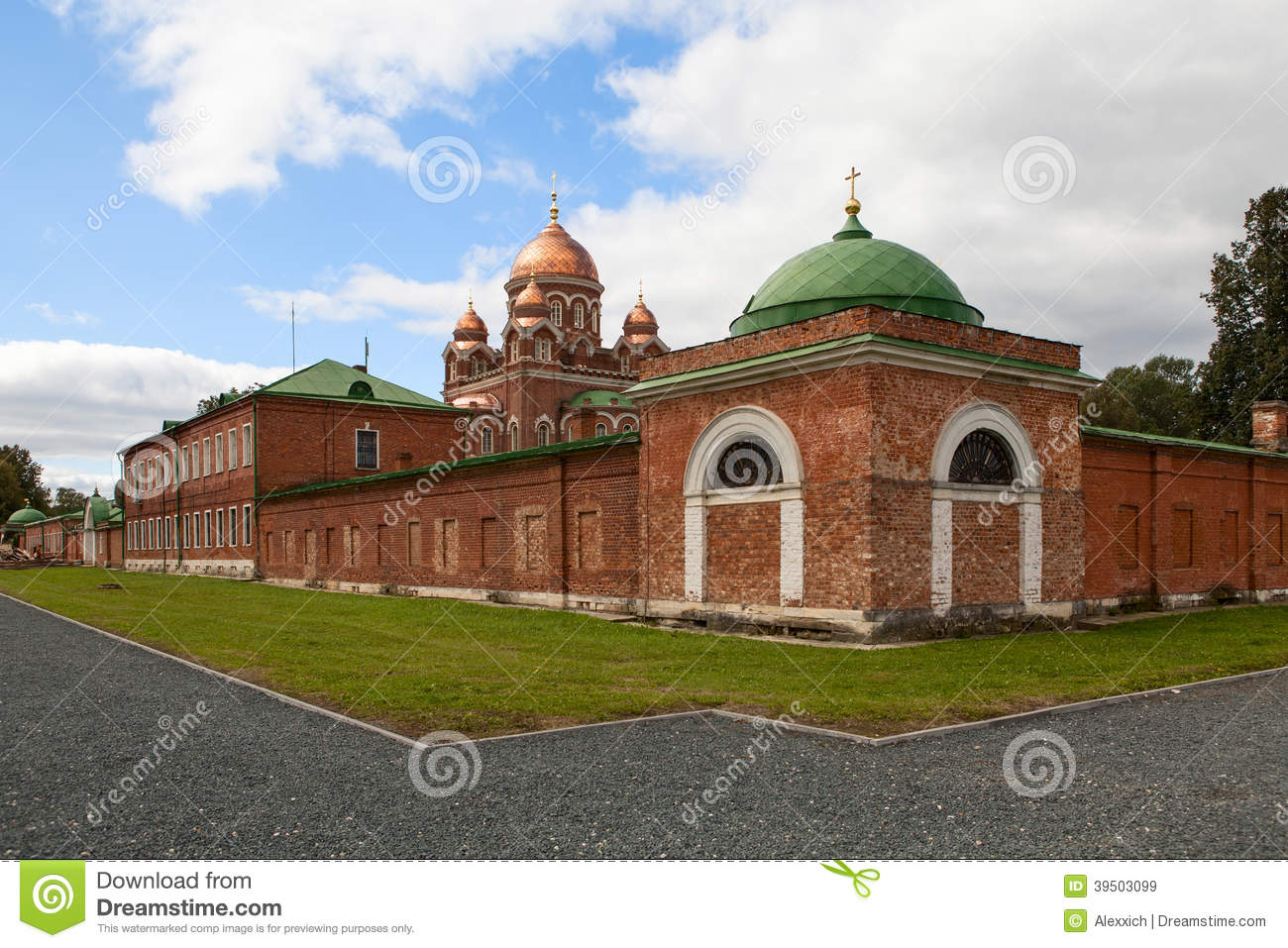 Church in Borodino Savior Convent. Russia