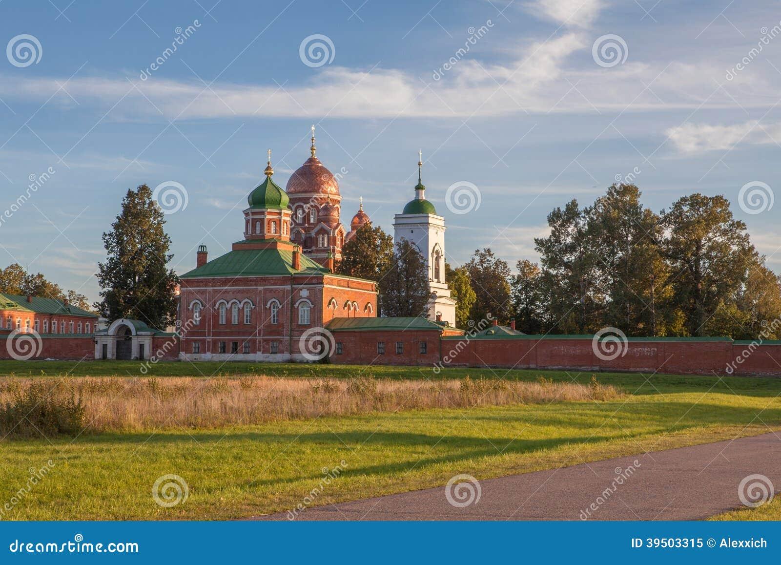 Church in Borodino Savior Convent. Russia
