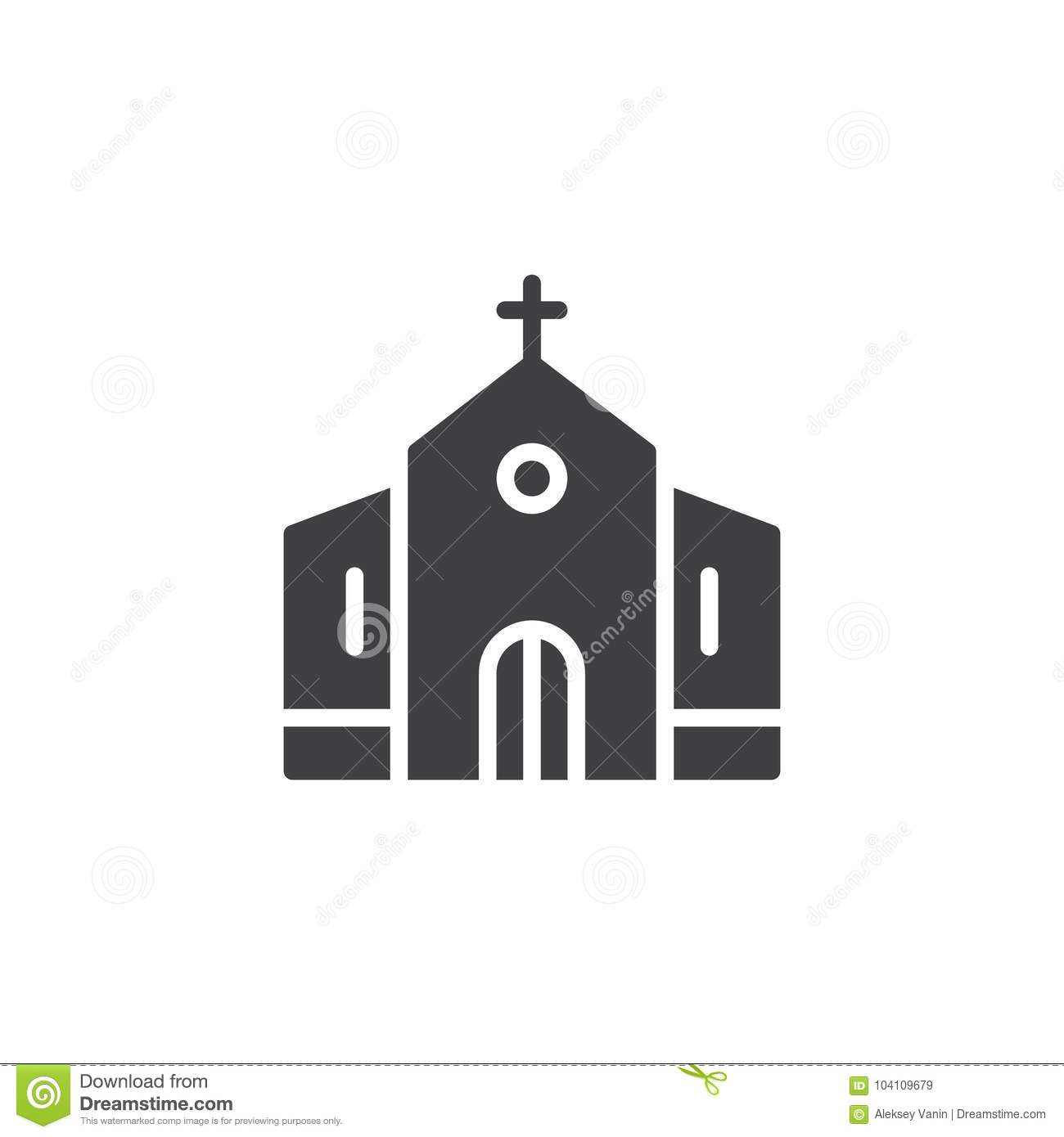 Church Building Icon Vector Stock Vector Illustration Of Perfect
