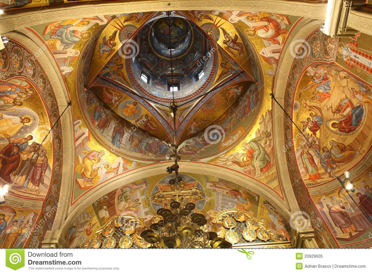 Church Ceiling Paintings Stock Image Image Of Religion