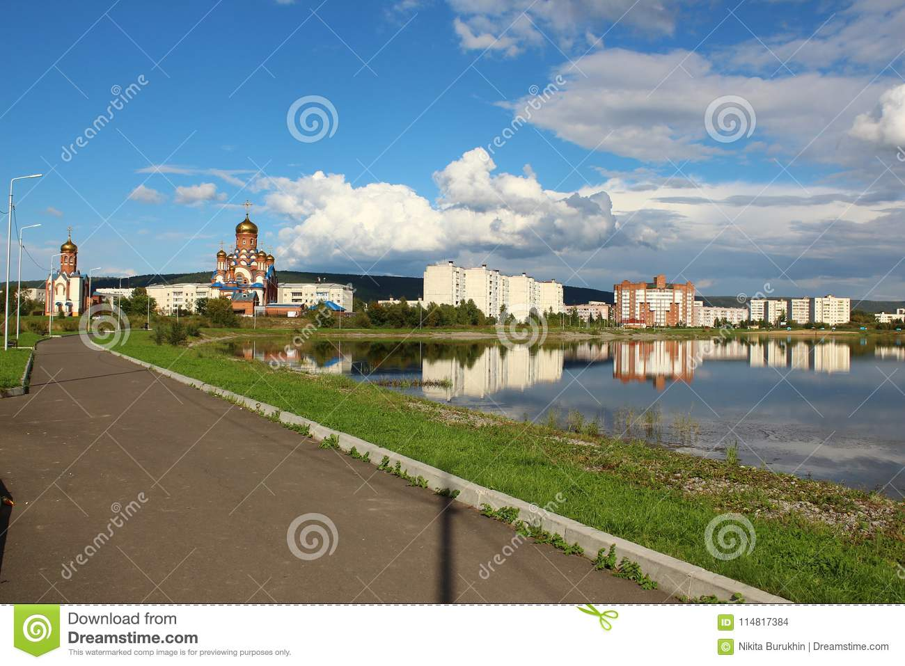 Church and chapel in the park, Zelenogorsk