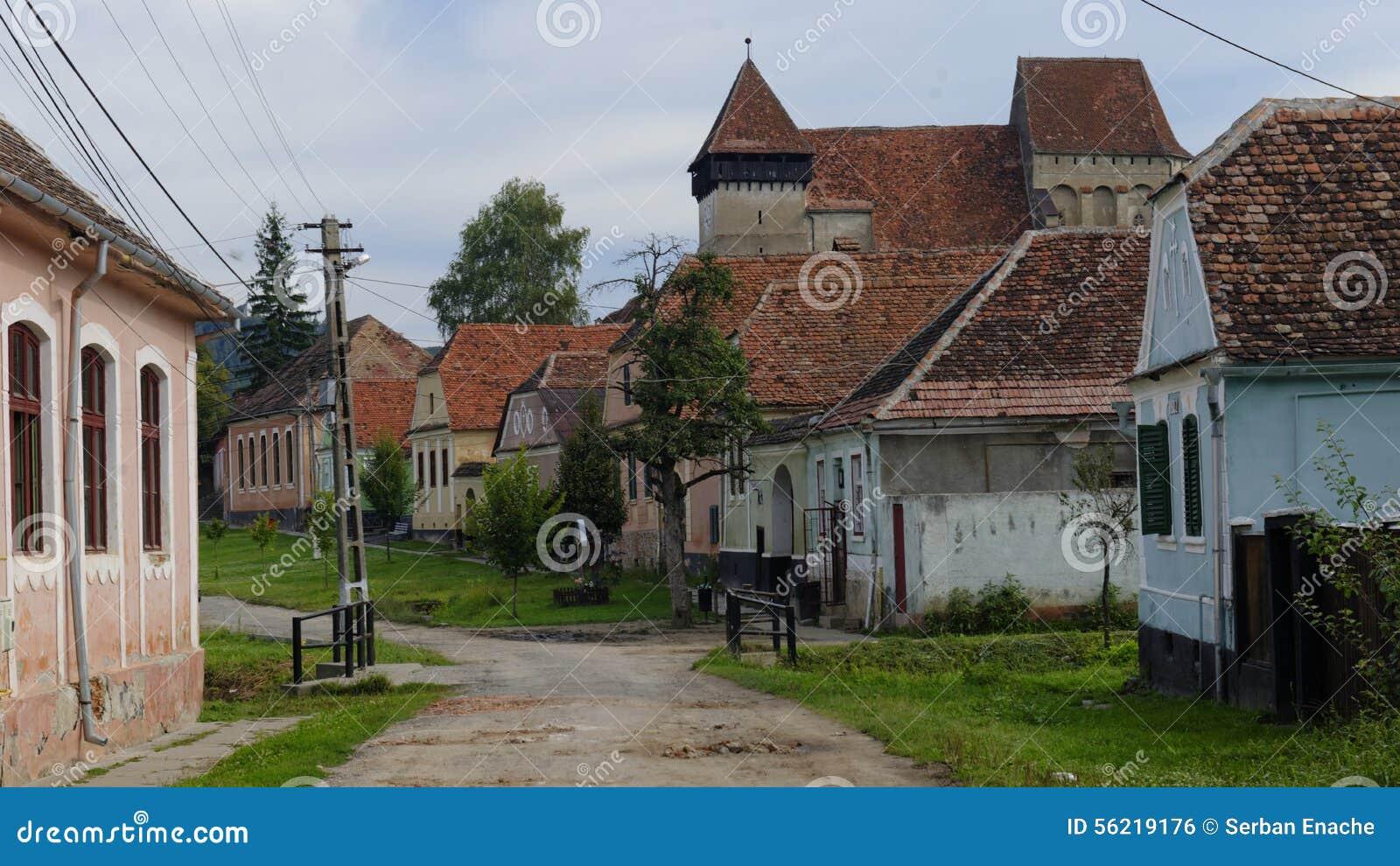 Church in copsa mare transylvania romania - Saxon style houses in transylvania ...