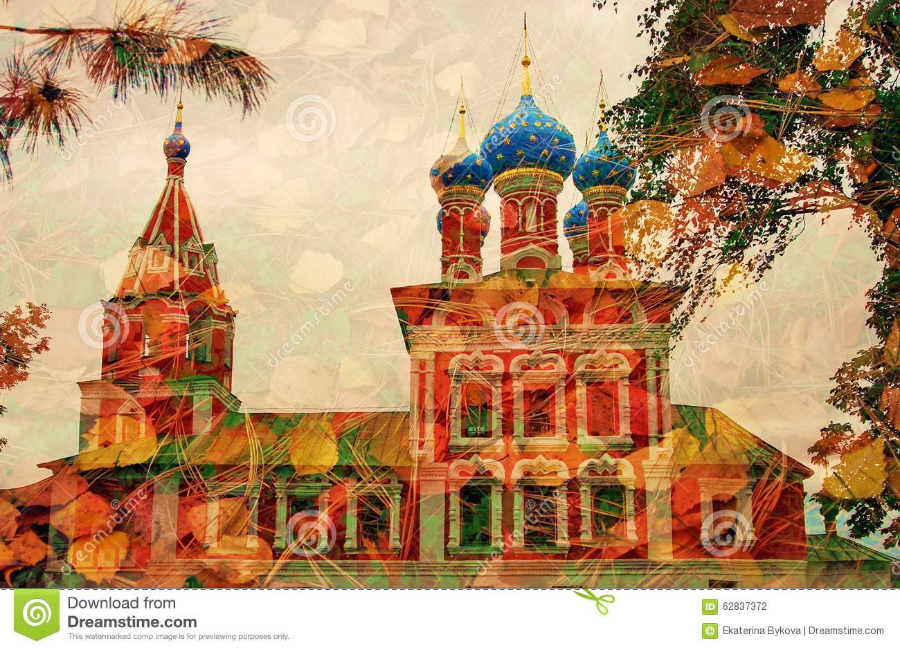 Church Of Dimitry On Blood Kremlin In Uglich Artistic Collage
