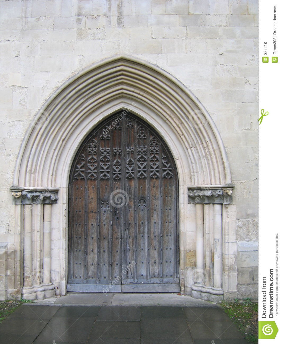 Open church door clipart - Church Door