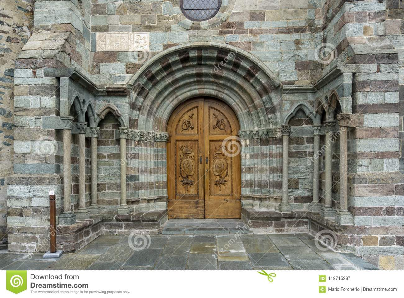 The Church Door Of The The Sacra Di San Michele,