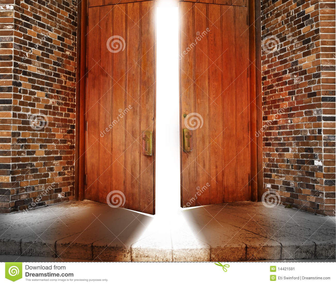 Open church door clipart - Church Doors Stock Image