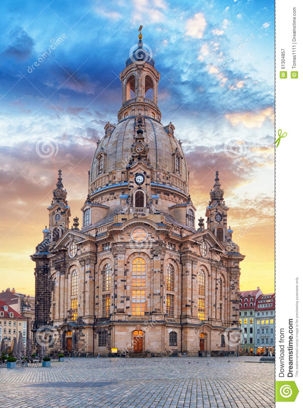 church frauenkirche in dresden germany church of our lady stock photo image 61304857. Black Bedroom Furniture Sets. Home Design Ideas