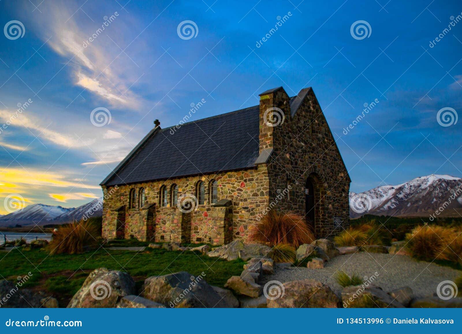 Church Of The Good Shepherd, New Zealand Stock Photo - Image