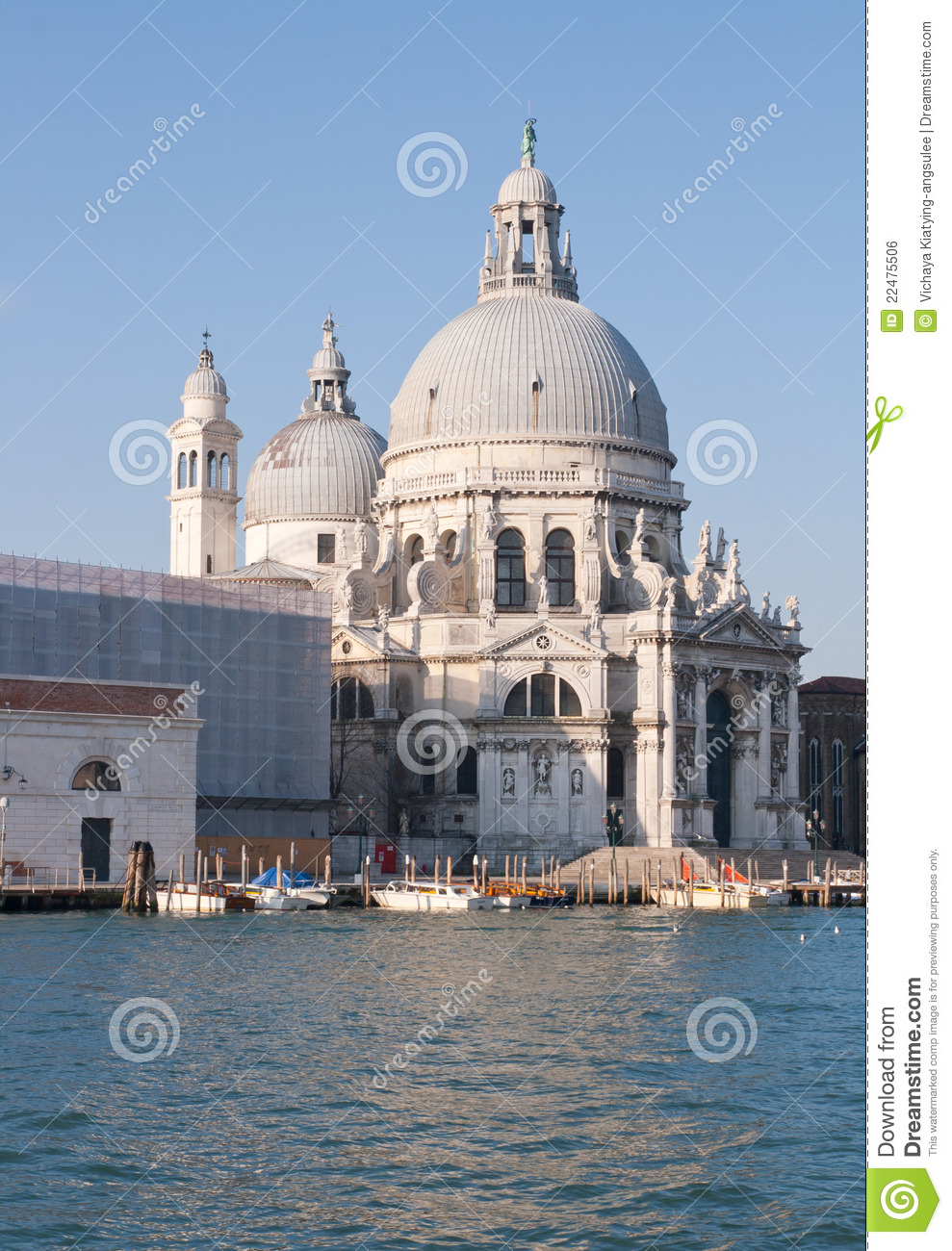 Church At Grand Canal Venice Italy Royalty Free Stock Image - Image ...