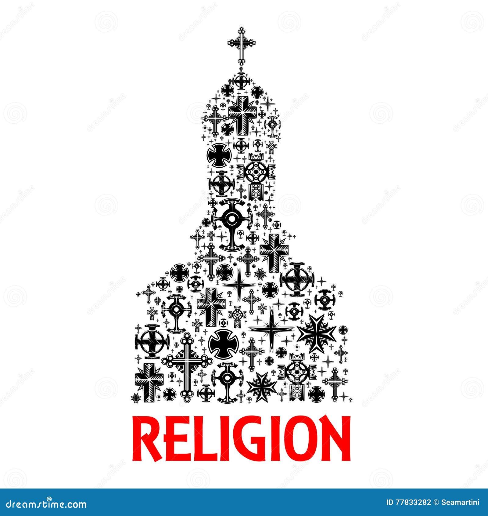 Church icon religion cross christianity symbols stock vector religion cross christianity symbols buycottarizona