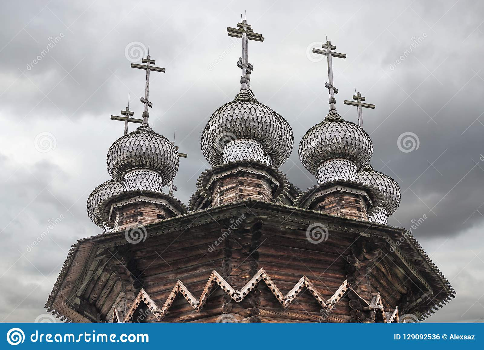 Church of the Intercession. Kizhi island, Medvezhyegorsky district, Karelia. Russian Federation.