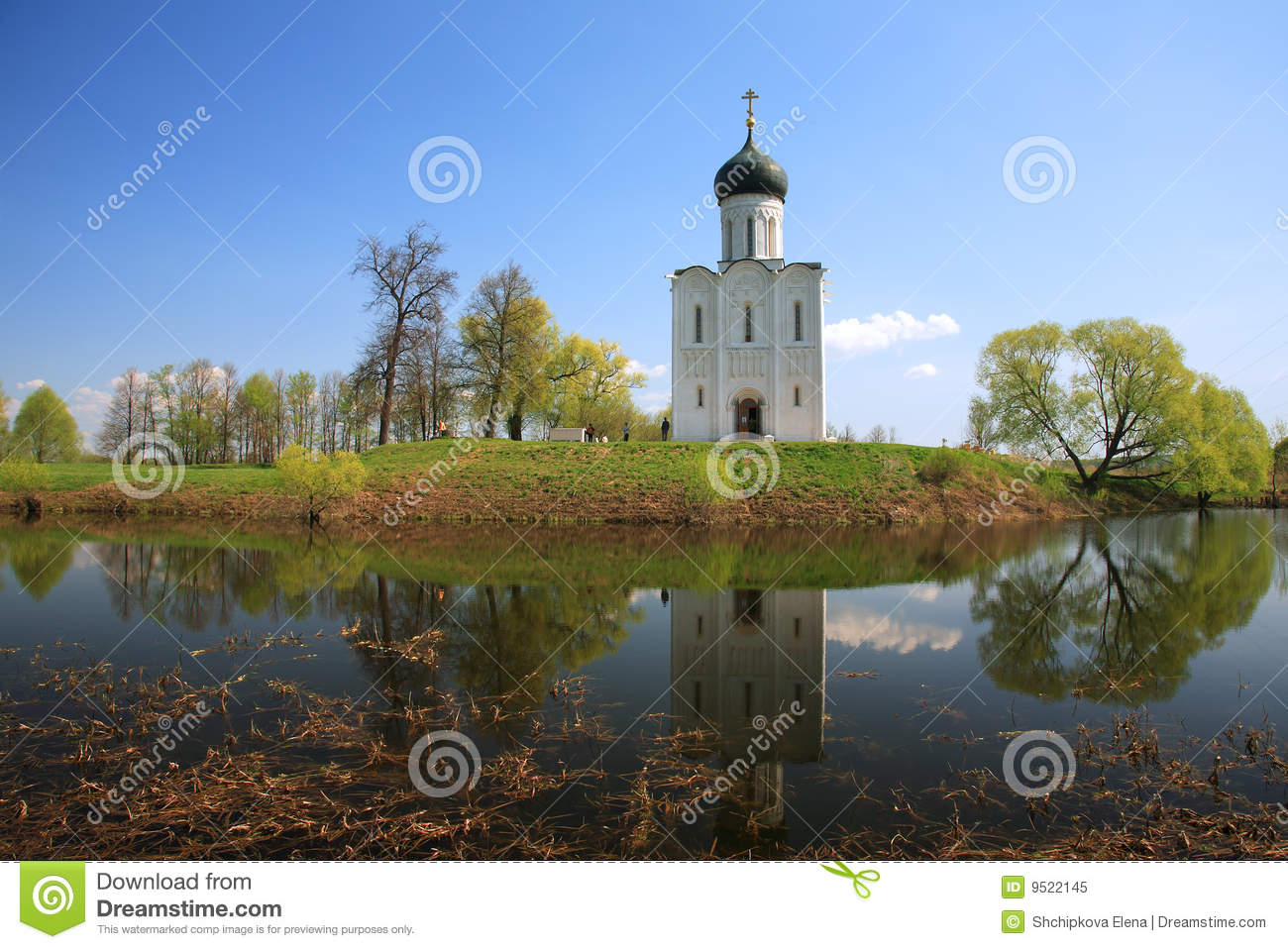 Download Church Of Intercession Upon Nerl River Stock Image - Image of history, orthodox: 9522145