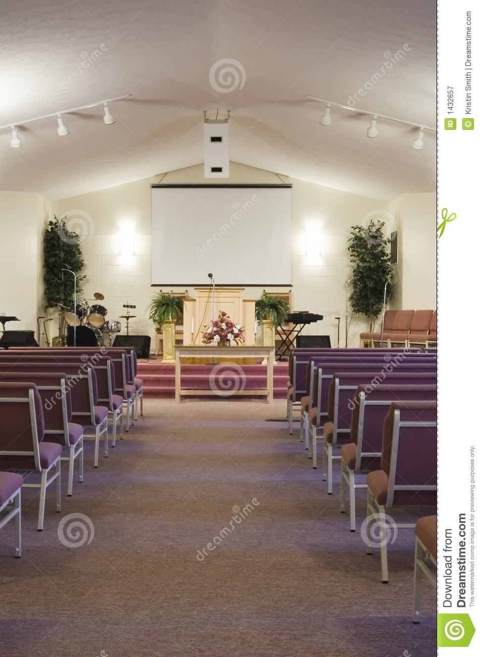 Church Interior Royalty Free Stock Photography Image
