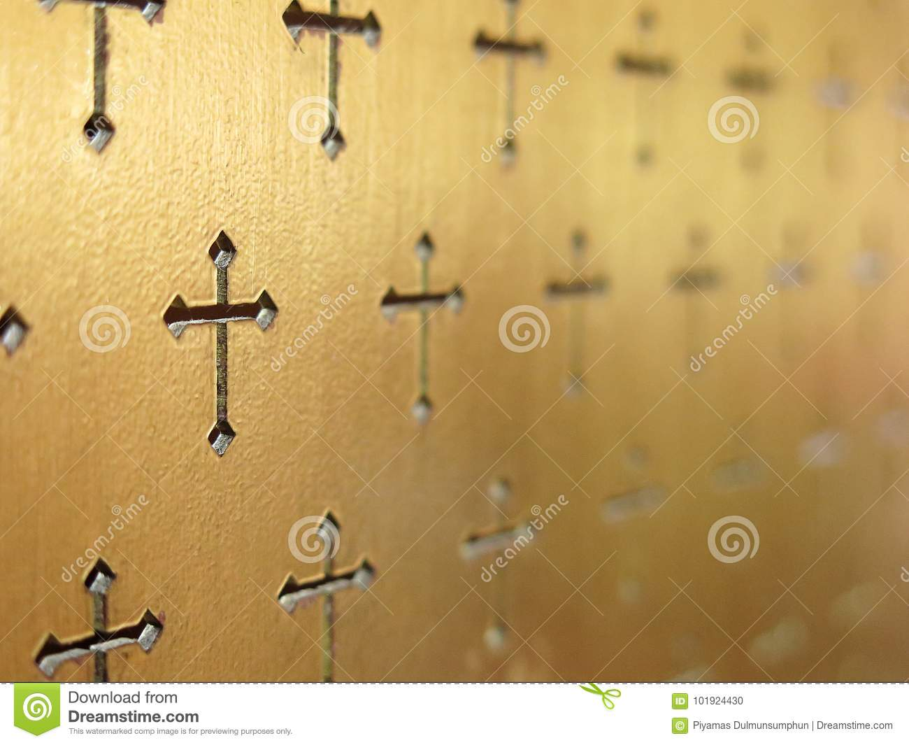 Church interior abstract background. Abstract selective focus