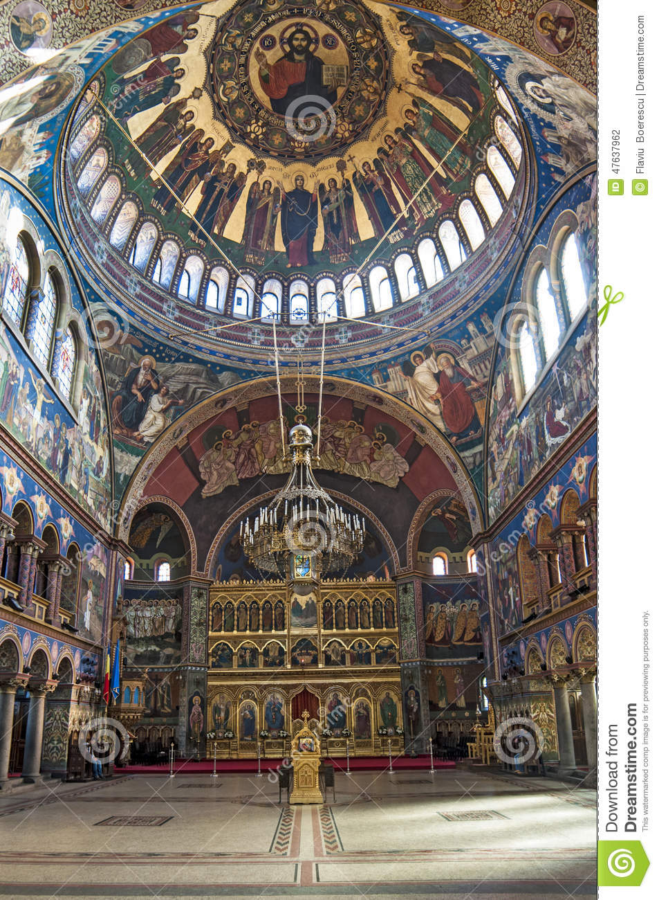 church interior - iconostasis stock photo