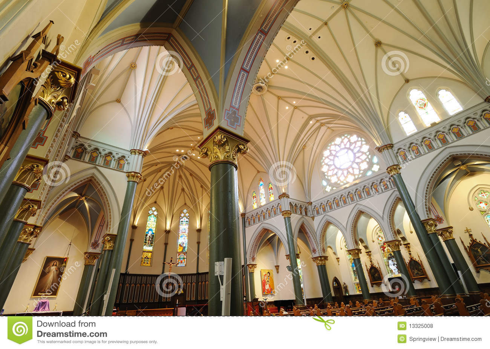 Church Interiors Royalty Free Stock Photos Image
