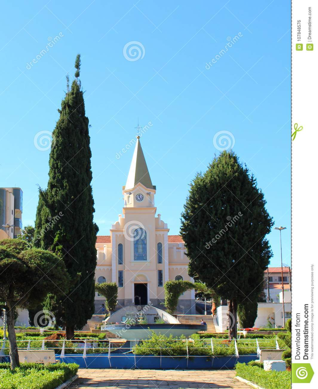 Church at little city in Brazil, Monte Siao-MG