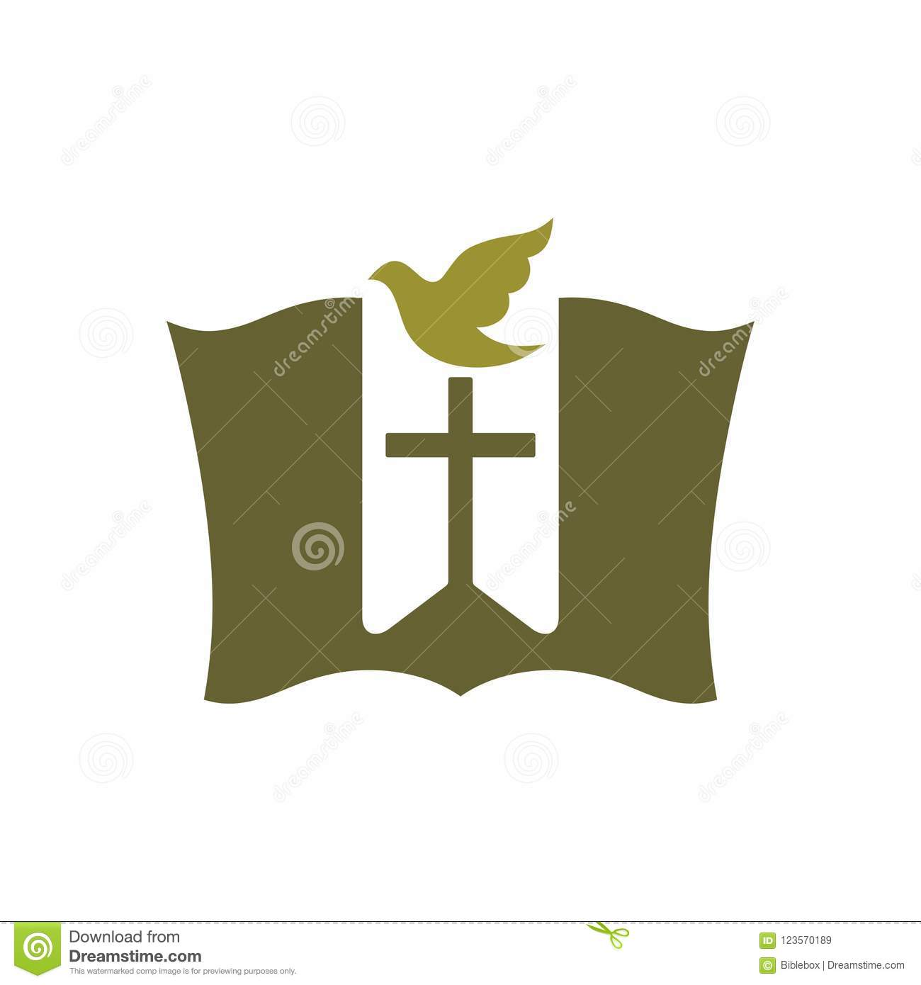 Church Logo Christian Symbols The Bible The Bookmark Cross And