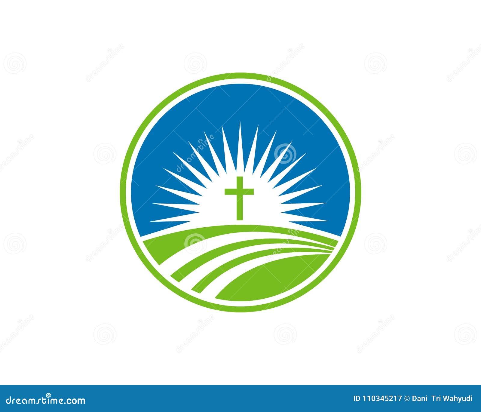 Church Logo Christian Symbols Stock Illustration Illustration Of