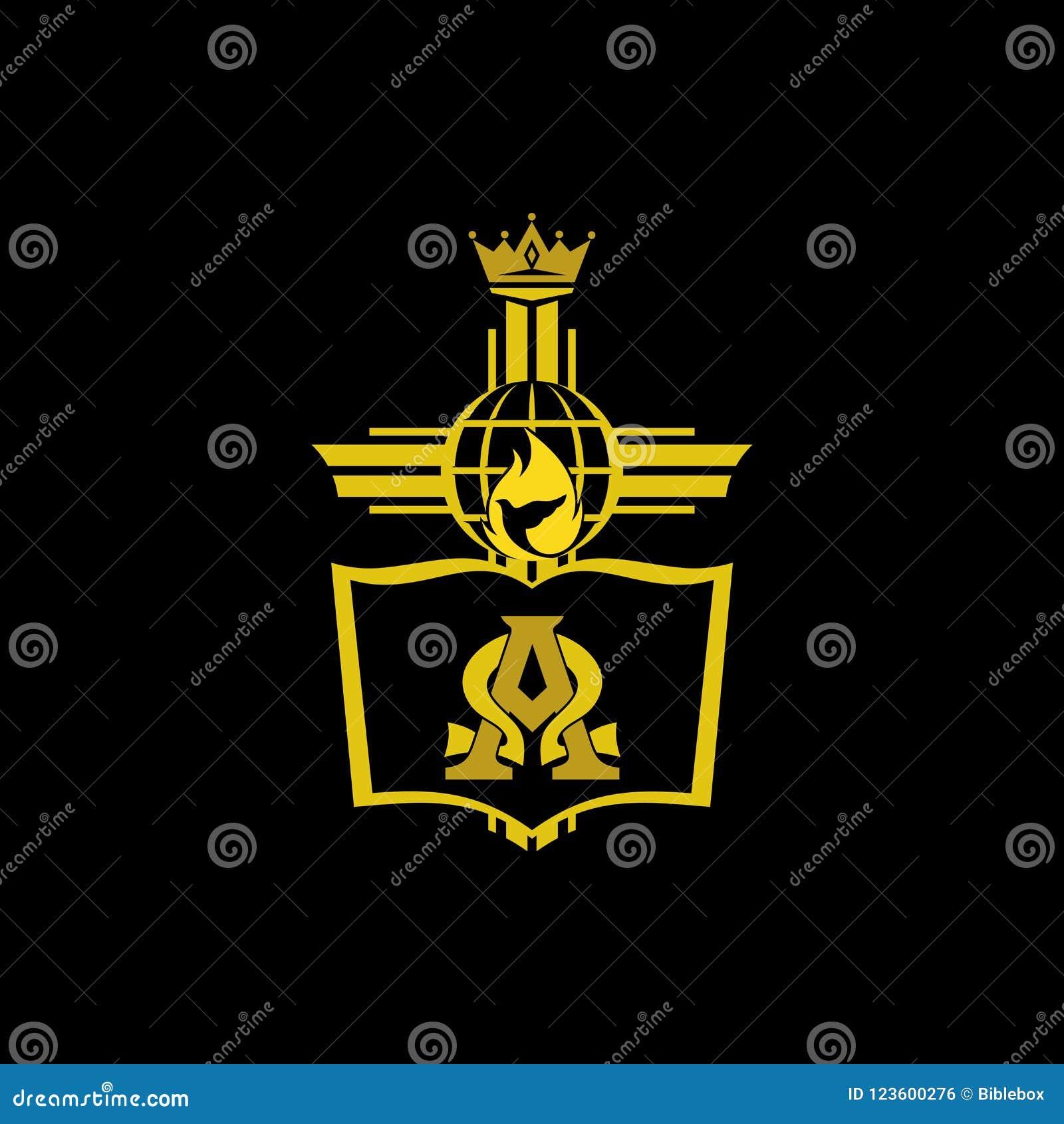 Church Logo Christian Symbols Cross Bible And Symbols Of The