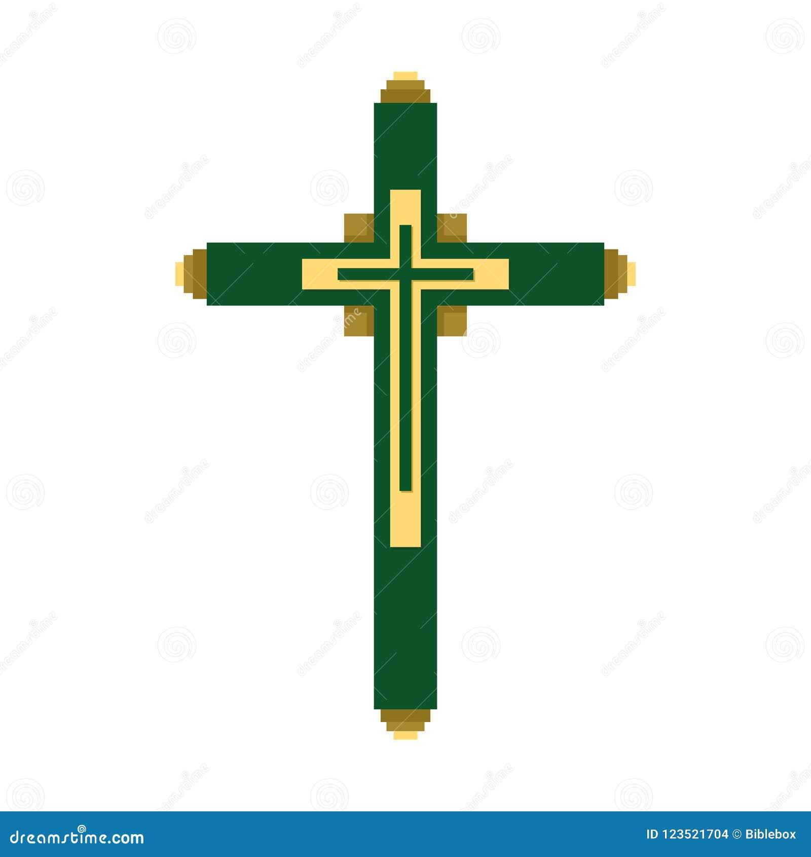 Church Logo Christian Symbols The Cross Of Jesus Christ Stock