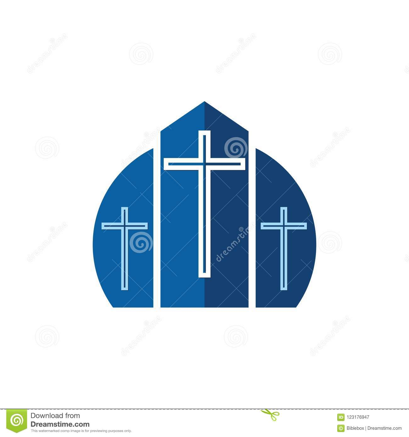 Church Logo Christian Symbols Cross Of Jesus And Graphic Design