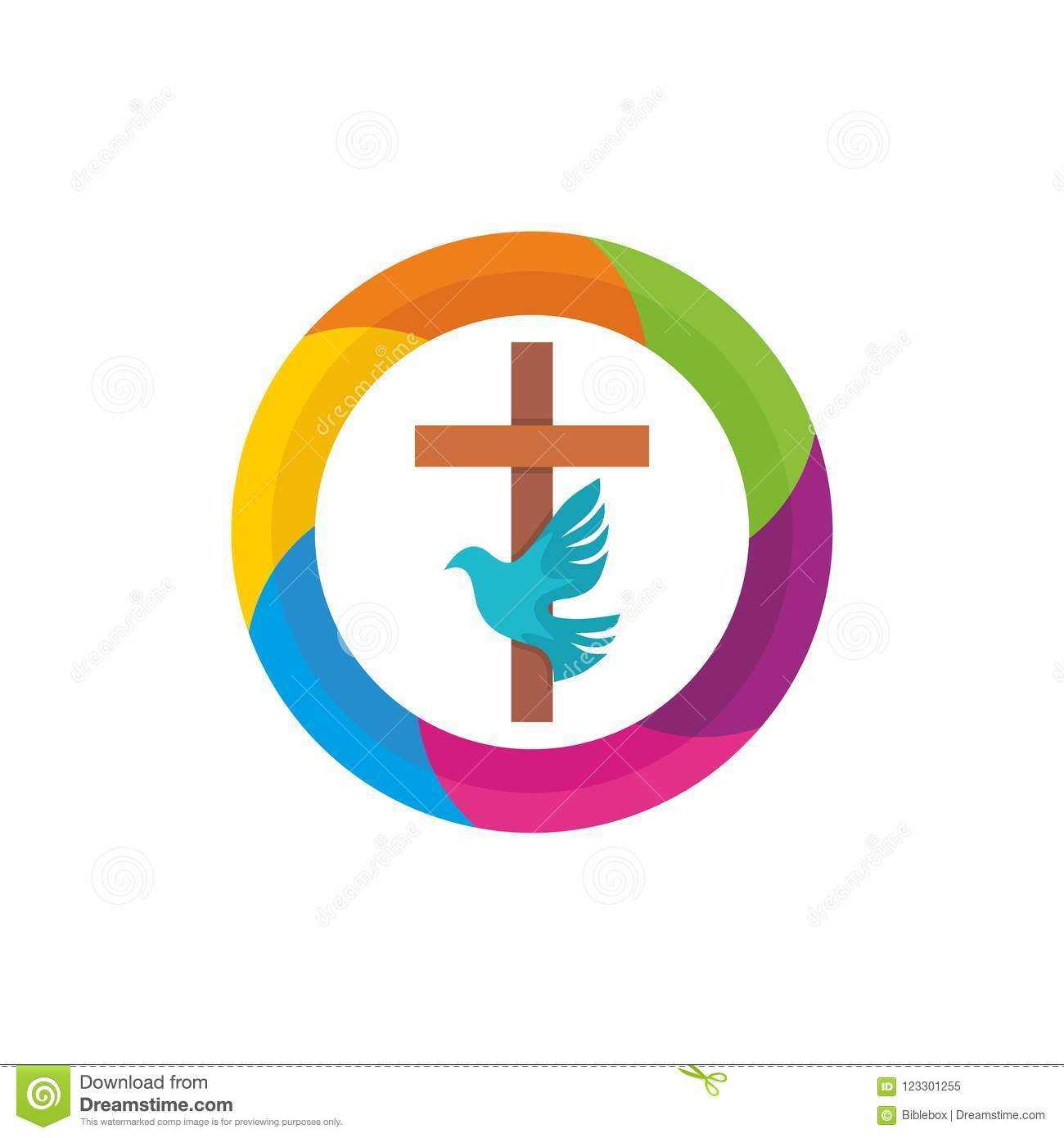 Church Logo Christian Symbols The Cross Of Jesus The Holy Spirit