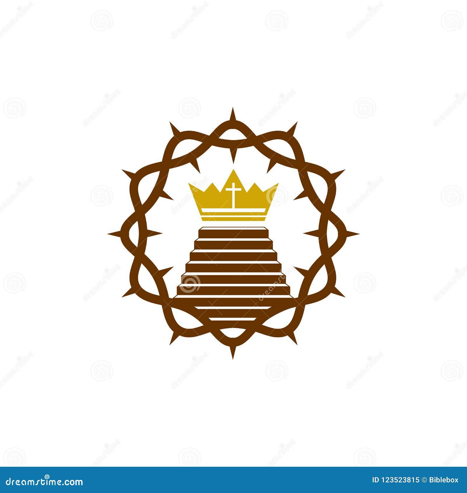 Church Logo Christian Symbols The Crown Of Thorns Jesus Christ The