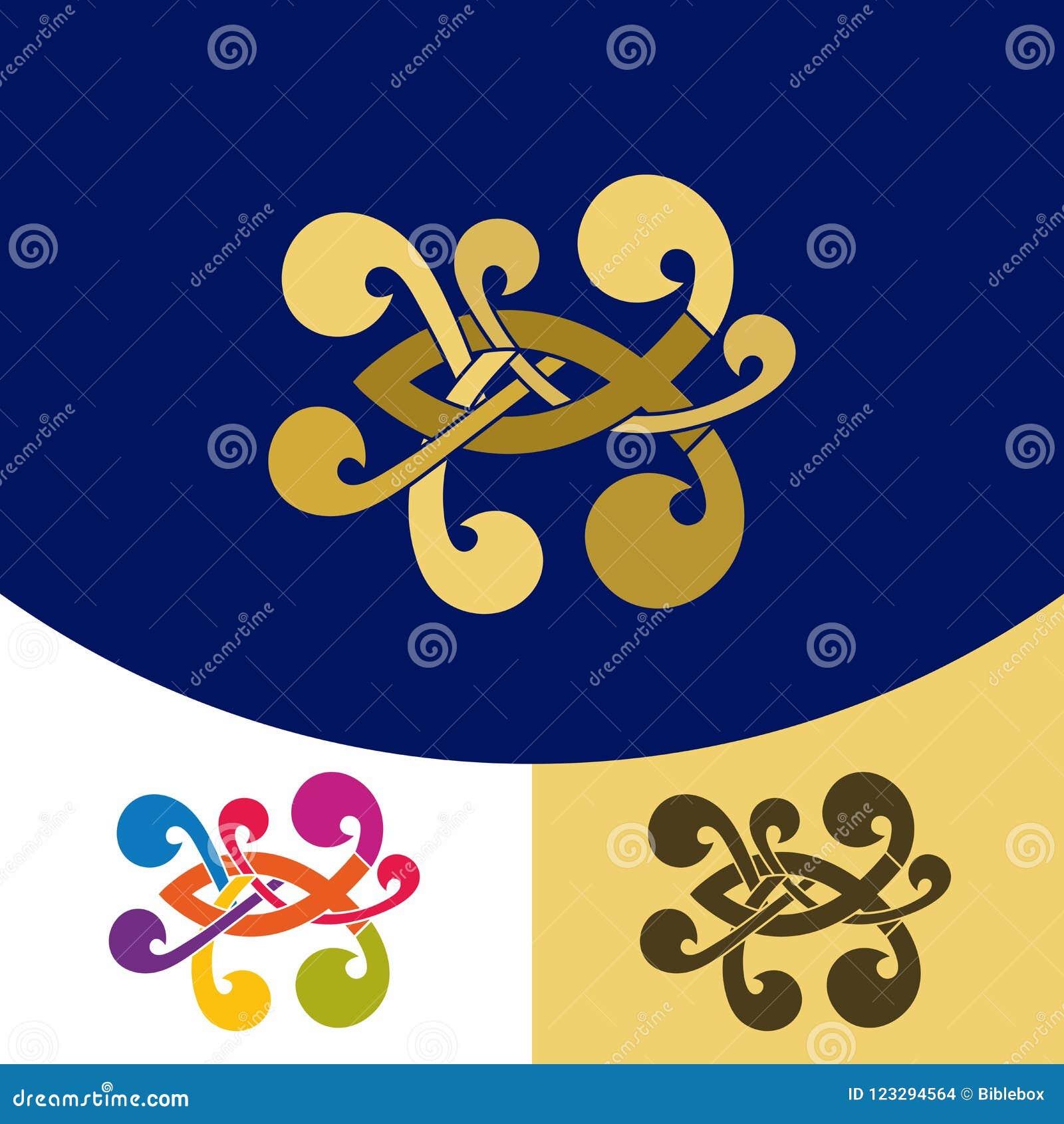 Church Logo Christian Symbols Fish A Symbol Of Jesus Christ And