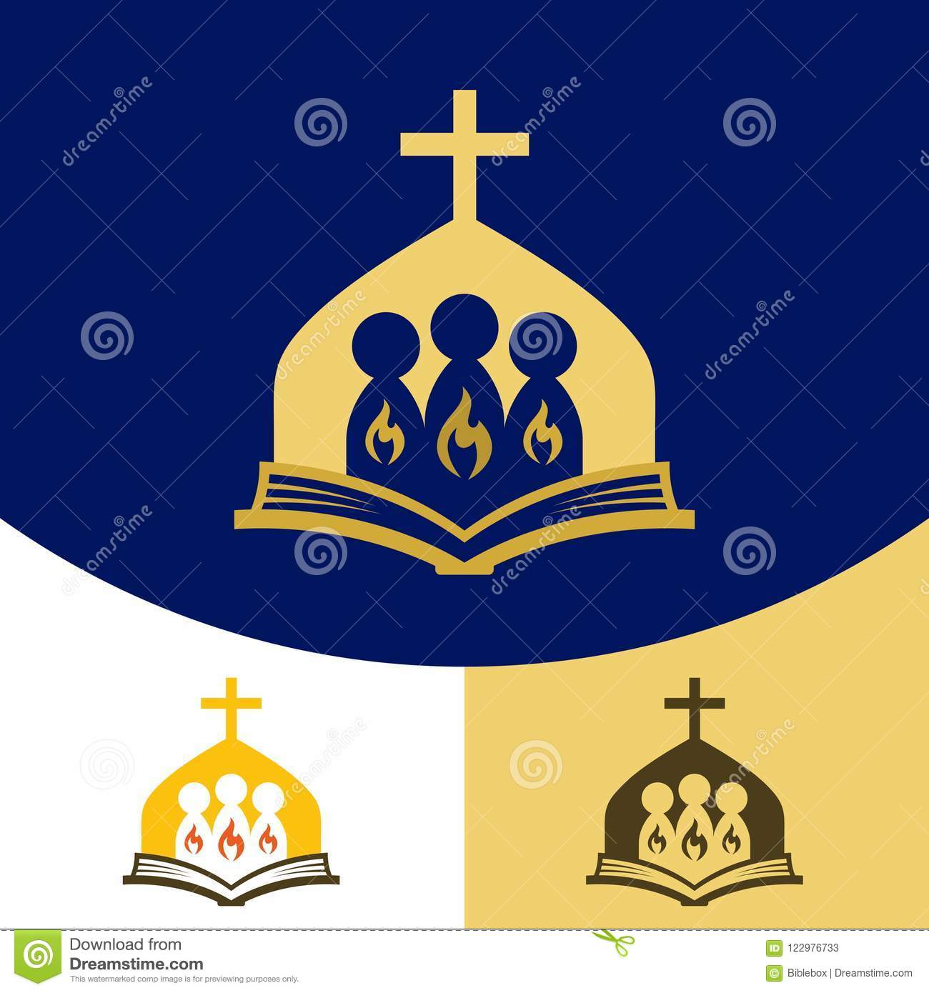 Church Logo Christian Symbols The Gathering Of The Saints In The