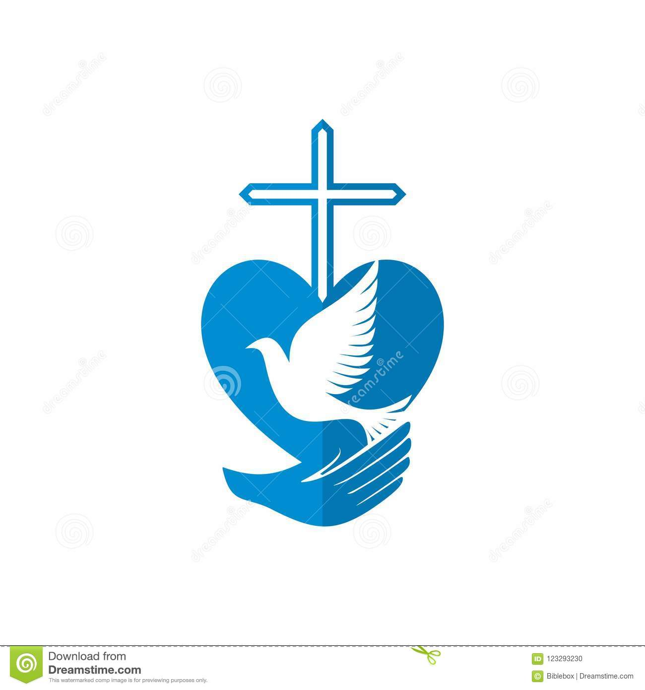 Church Logo Christian Symbols God Has Given Us The Holy Spirit