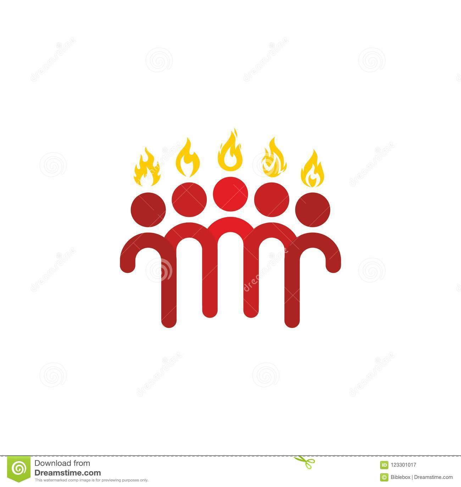 Church Logo Christian Symbols Pentecost The Apostles And Flames