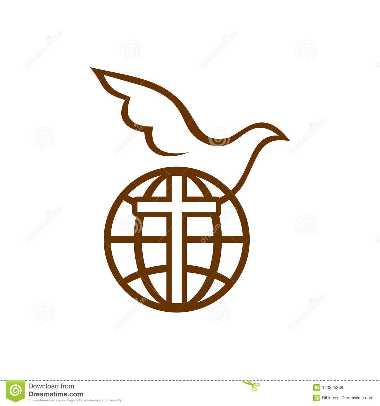 Church logo the cross of jesus the dove and the globe stock vector download church logo the cross of jesus the dove and the globe stock vector thecheapjerseys Gallery