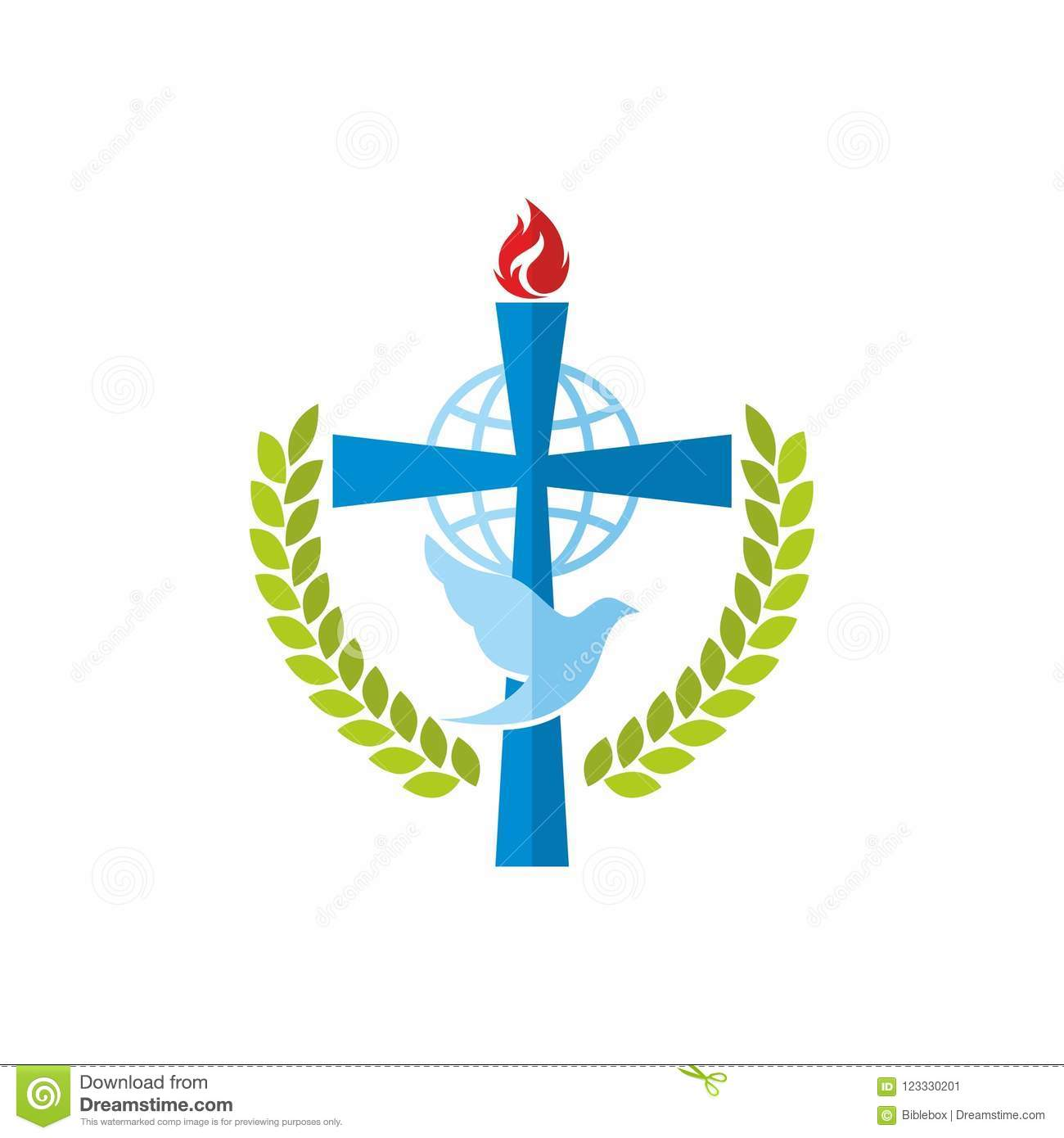 Church logo the cross of jesus the globe and the dove stock vector download church logo the cross of jesus the globe and the dove stock vector thecheapjerseys Gallery
