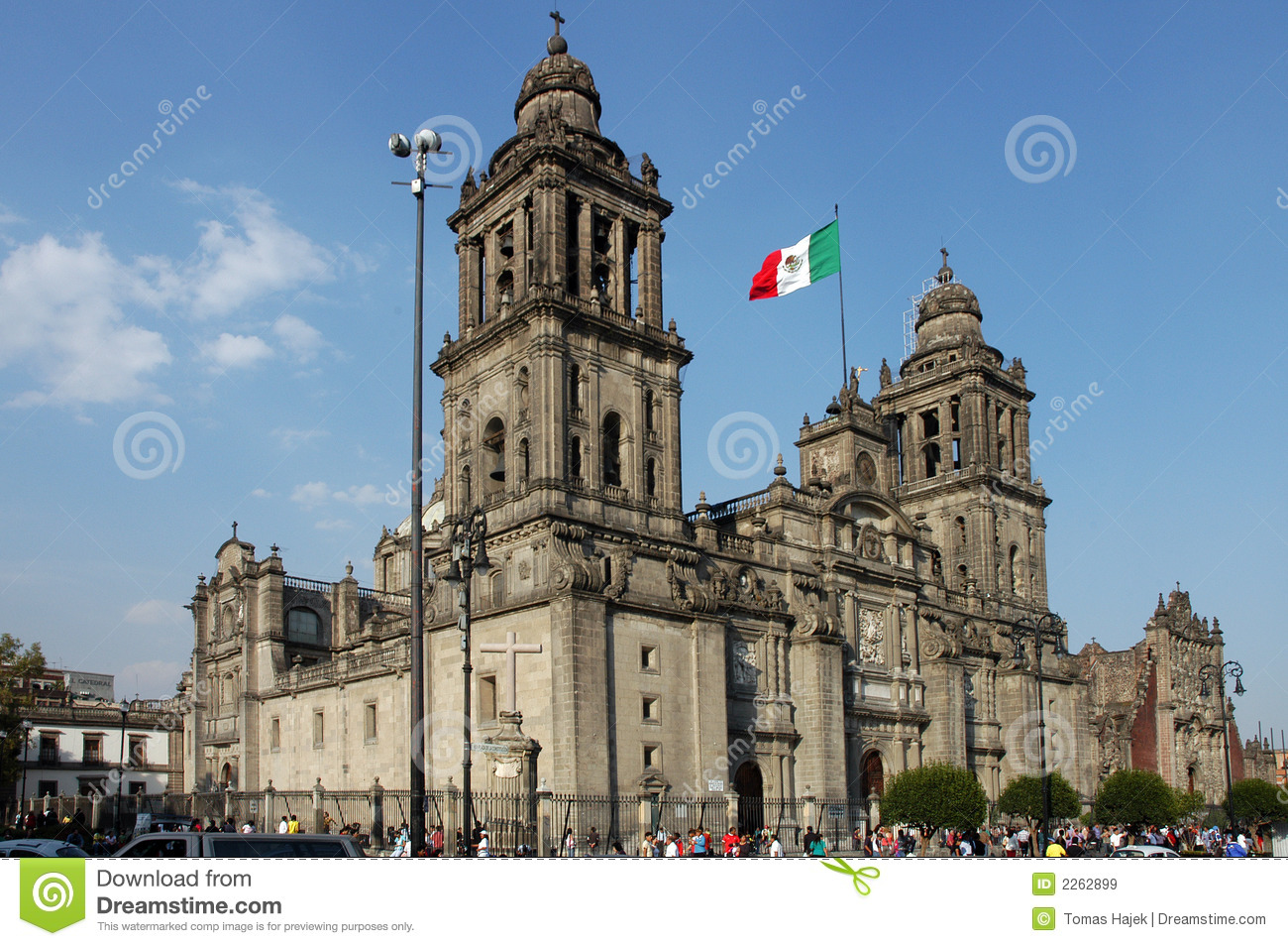 Church In Mexico City - Mexico Stock Image - Image: 2262899