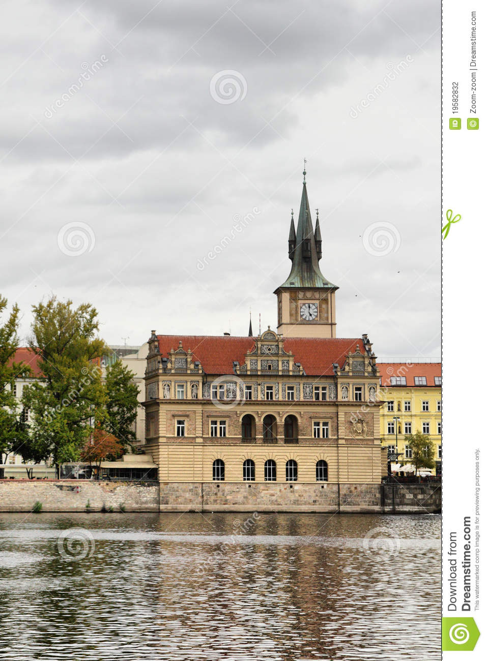Church near vltava river stock photography image 19582832 for Where is prague near