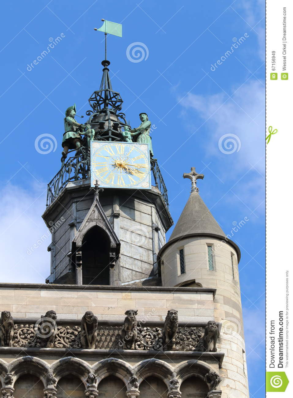 Church of notre dame tower dijon france stock photo for Dijon architecture