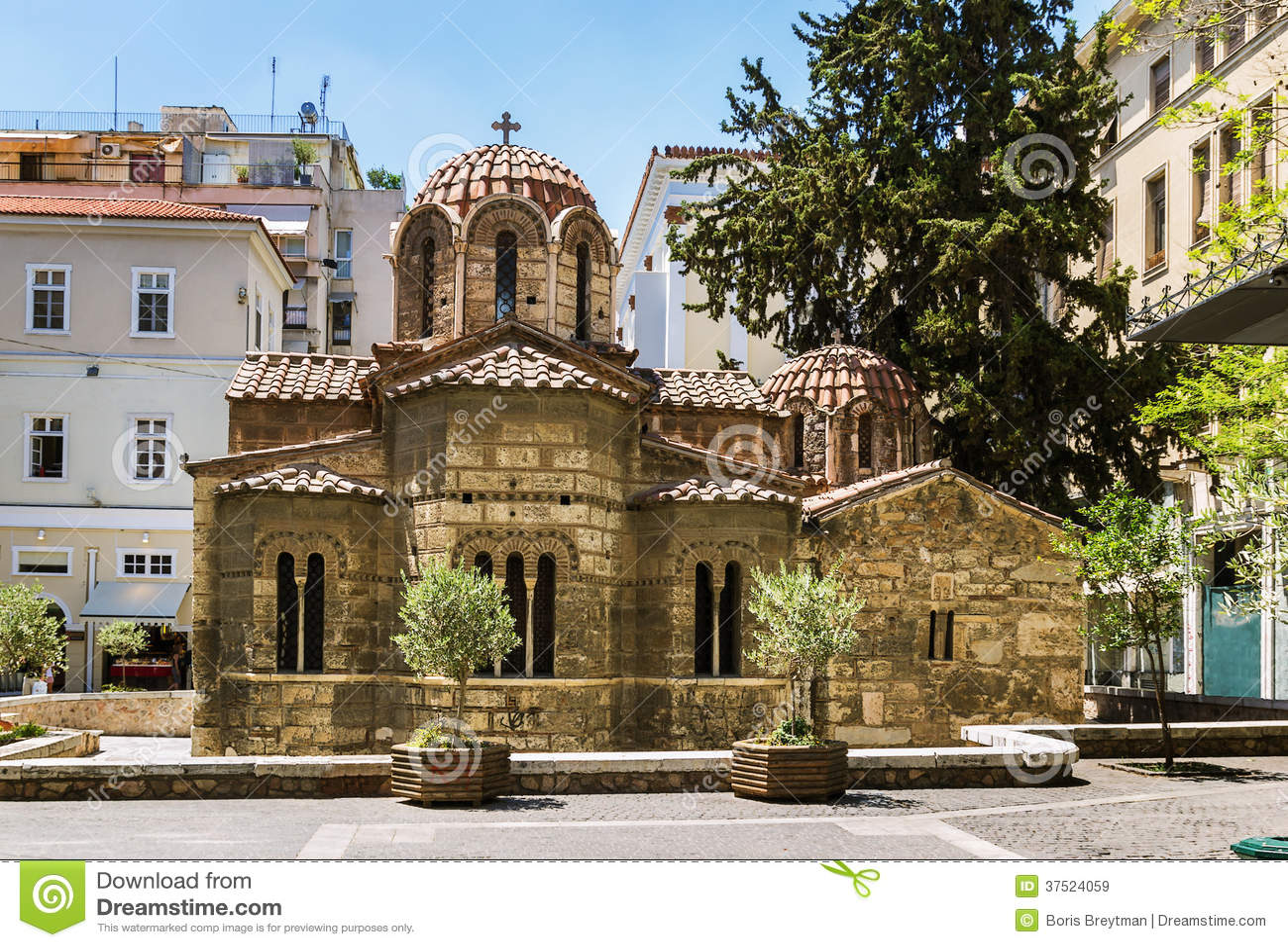 Church Of Panaghia Kapnikarea, Athens Royalty Free Stock ...