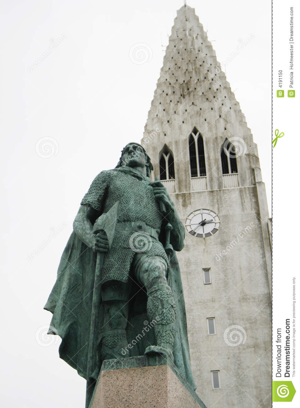 church reykjavik with statue leif eriksson stock photo Fortune Cookie Boarder Fortune Cookie Border