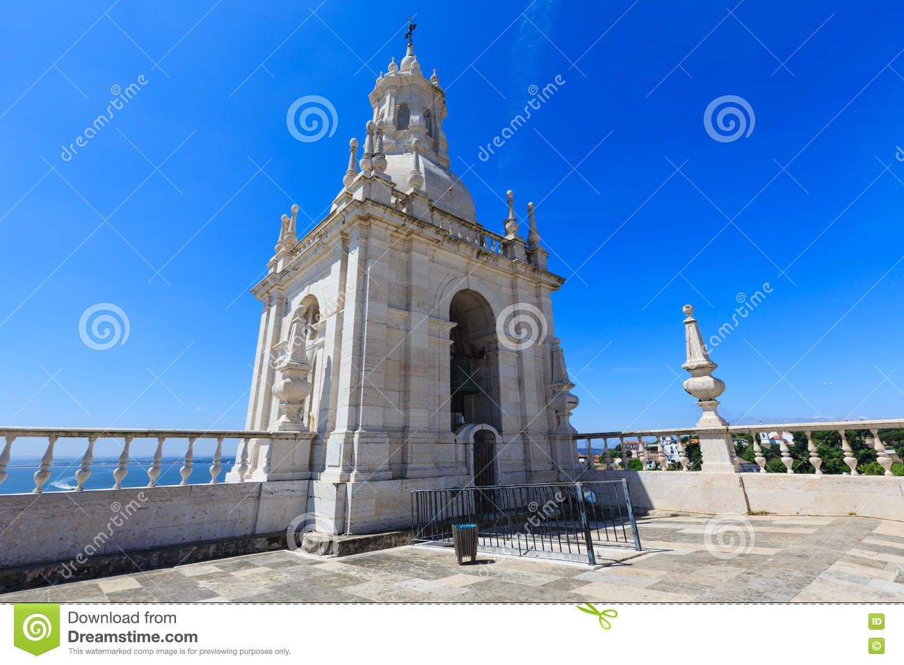 Church Roof In Lisbon Portugal Stock Photo Image Of