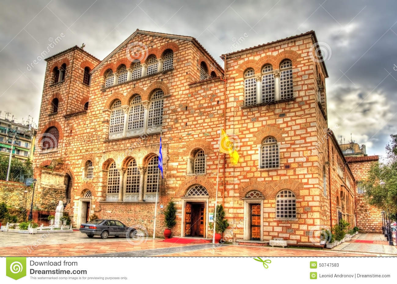 Church Of Saint Demetrius In Thessaloniki Stock Photo ...