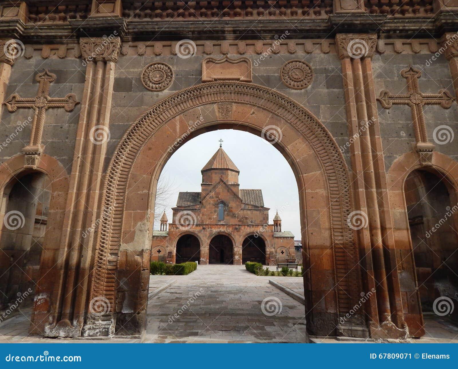 The Church of Saint Gayane (7th century) in Armenia.