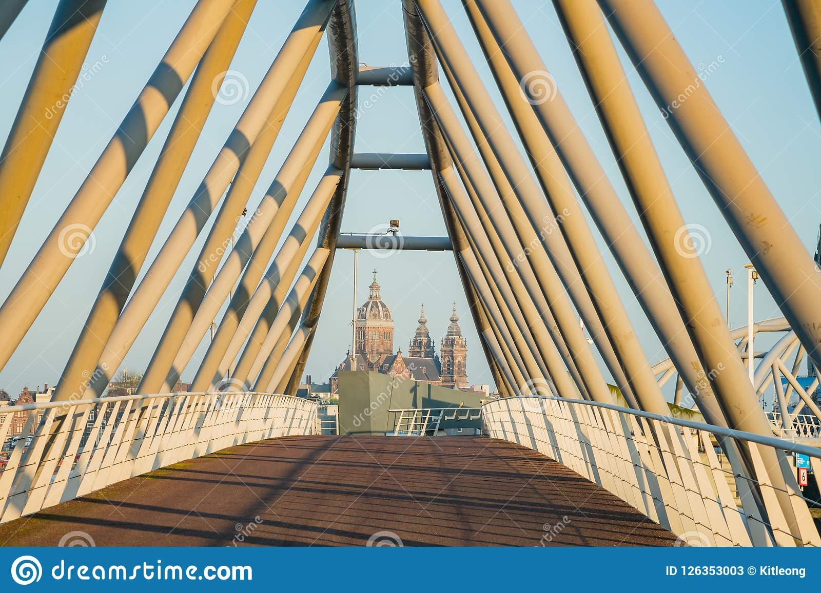 Church of Saint Nicholas and the Mr. JJ van der Veldebrug bridge