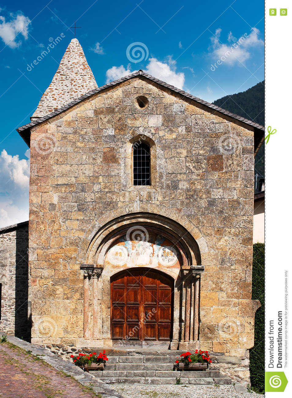 Download Church Of San Giovanni - Tubre Trentino Italy Stock Image - Image of exterior, architecture: 80818933