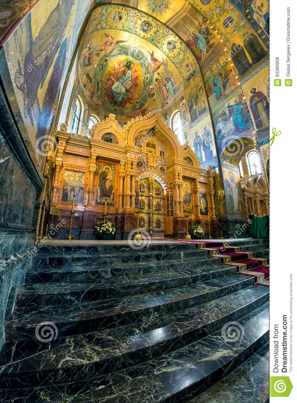 Church of the Savior on Spilled Blood. Central icon case or kio