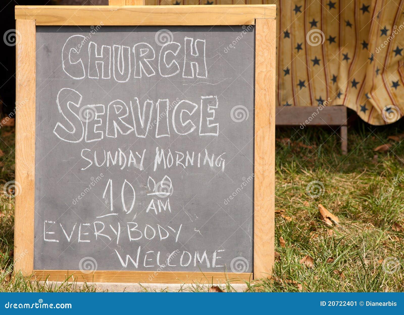 Church Service Sign