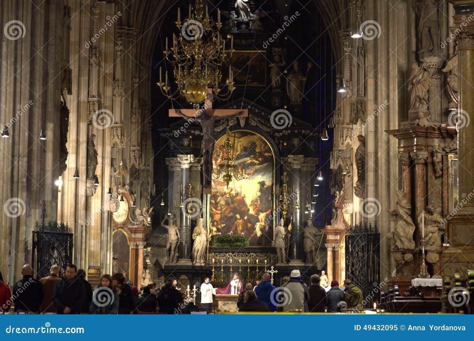 Church service in Stephansdom Vienna,Austria